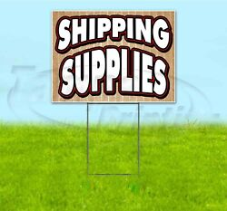 Shipping Supplies 18x24 Yard Sign With Stake Corrugated Bandit Usa Business Sale