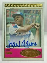 Hank Aaron 2018 Topps Brooklyn Collection On-card Autograph Auto 'd/25 - Braves