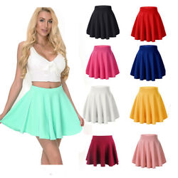 Cute Womens Girls Skater Skirt Pleated Flared A Line Cosplay Party School Skirt $9.39