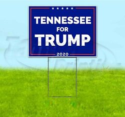Tennessee For Trump 2020 18x24 Yard Sign With Stake Corrugated Bandit Usa Maga