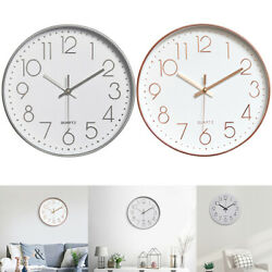 12quot; Modern Wall Clock Silent Non Ticking Quartz Battery Operated Decorative Home