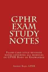 Gphr Exam Study Notes Flash-card Style Revision Notes Covering All Modules ...