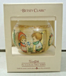 Betsy Clarktwelfth In A Collectible Series 1984 Hallmark Glass Ornament