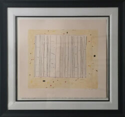 Gene Davis Yellow Jack 1979 Lithograph On Arches Archival Paper Framed