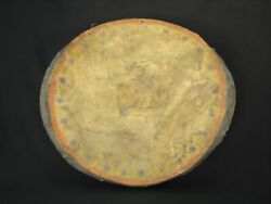 A Plains Painted Hide Hand Drum Native American Indian Artifact C.1890