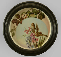 Antique Russian Hand Painted Porcelain Wall Plate19thc