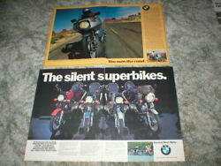 Vintage Bmw Street Cycle Ads Lot Of 2 Picture Ads 4 Page Original