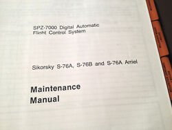 Honeywell Spz-7000 Afcs In Sikorsky S-76a S-76b And S-76a Arriel Service Manual