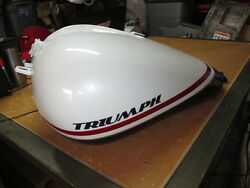 Nos Triumph Oem Red White And Blue Thunderbird Petrol Gas Fuel Tank