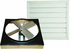 Cool Attic Cx24ddwt Direct Drive 2-speed Whole House Attic Fan With Shutter 2...