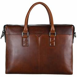 Banuce Full Grains Oil-Waxed Leather Briefcase for Men Women Handbags Tote At...