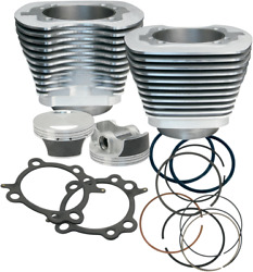 S And S Cycle Big Bore Cylinder Kit 106in Silver Powder-coated 910-0202