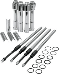 S And S Cycle Adjustable Pushrod Kit With Covers Quickee 930-0023