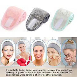 Makeup Head Band Adjustable Soft Facial Hairband Shower Caps Salon SPA Women