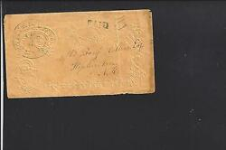 Silver Creek New York Stampless Embossed Ladies Cover Musical Notations Label.