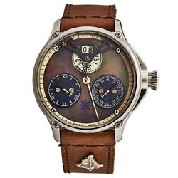L. Kendall Menand039s K6 Brown Mop Dial Brown Leather Strap Automatic Watch K6-002a
