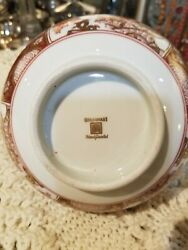 Imari Hand Painted 22kt. Gold And Red Bowl 10in.