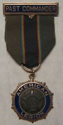 1923 American Legion Badge With Ribbon Pin 10k Ernest F. Gates Take A Look