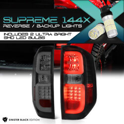 [full Smd Reverse] For 2014-2021 Toyota Tundra Sinister Black Led Tail Lamps