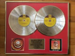 Stevie Wonder - Double Disc Gold Record Display Award Plaque Limited Edition