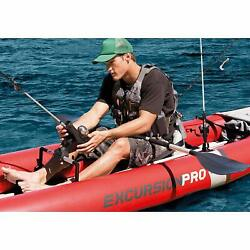 Inflatable Fishing Kayak 2 Person Boat Canoe 2 Paddles Oars River Lake Crappie