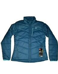 Under Armour Womens Fc Insulated Puffer Jacket Size S Blue Coldgear Storm