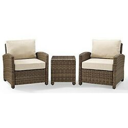 Crosley Furniture3-pc Outdoor Conversation Set With Sand Cushionsnew