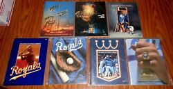 7 Different Kansas City Royals 1983-84-85-86-87-88 And 1989 Official Year Books