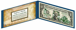 Minnesota State 1 Bill Us One-dollar Currency Green W/h Coa And Folio