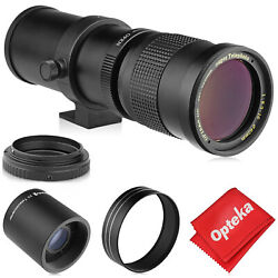 Opteka 420-1600mm Telephoto Zoom Lens For Canon Eos T7i T7s T7 T6s T6i T6 T5i T5