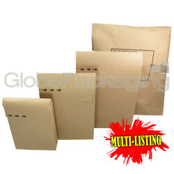 Strong Brown Kraft Paper Mailing Bags Peel And Seal Mailers 100 Recyclable