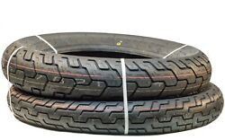Ma5 Set Of 2 Dunlop Motorcycle Tires D404 140/90-15 Rear 100/90-19 Front New