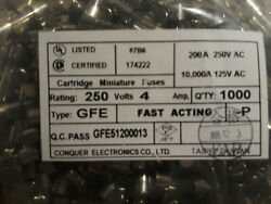 Fast-blow Fuse 4a 250v Glass Fuses 5 X 20 Mm 4 Amp Ul/csa - New 1000pc Lot