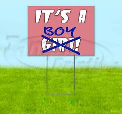 Itand039s A Boy 18x24 Yard Sign With Stake Corrugated Bandit Usa Gender Reveal