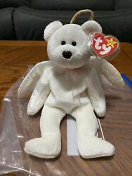 Rare Mint Condition Vintage Ty Beanie Baby Original Halo The Angel Bear 1998