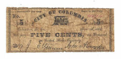 1866 City Of Columbia Sc - 5 Cent Note No.4076 - C585 Sh869 05420
