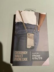 Fellowes Crossbody Wallet Phone Case For iPhone 6 6s 7 8 Rose Gold $12.99
