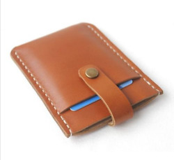 men women wallet cow Leather Card ID driver license Holder bag case brown S15 $4.80