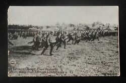 1910s Ww1 German Charge Fixed Bayonets American Lines Chicago Daily News France