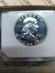 1963 - One Us 50 Cent Coin Franklin - Nice