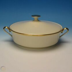 Lenox China - Dimension Collection - Eternal - Round Covered Casserole Dish Bowl