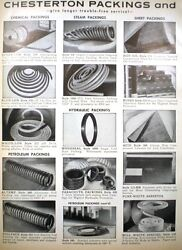 Chesterton Packings And Seals Asbestos 1966 Chemical Steam Service Industry