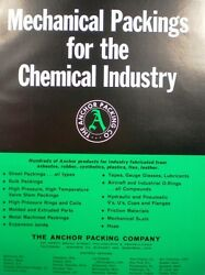 Anchor Packing Catalog Sheets Boiler Gaskets Discs Washers 1966 Blue Asbestos