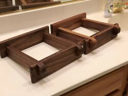 Custom Made Walnut Speaker Stands For Sansui Sp 2000 Series Speakers