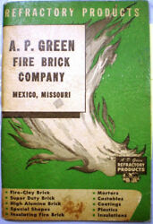 A P Green Refractory Catalog Refractories Asbestos Kast-o-lite Insulation 1950's