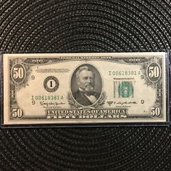 1950d 50 Federal Reserve Note [] Minneapolis [] Fr.2111-i [] 00618381 [[]]