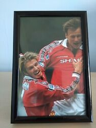 Official Manchester United Photographs Framed Original 1999/00 Treble Champions