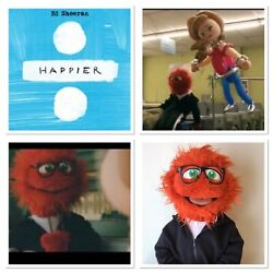 """Screen Used Ed Sheeran Puppet From """"happier"""" Music Video The """"new Boyfriend"""""""