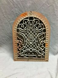 Antique Arched Top Heat Grate Gothic Maltese Cross Arch 9x12 Vtg 31-20b