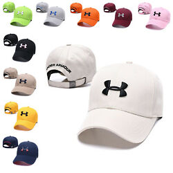 Baseball Cap Adjustable Embroidered UA Fashion Cotton Sun Visor Golf Hat For Men